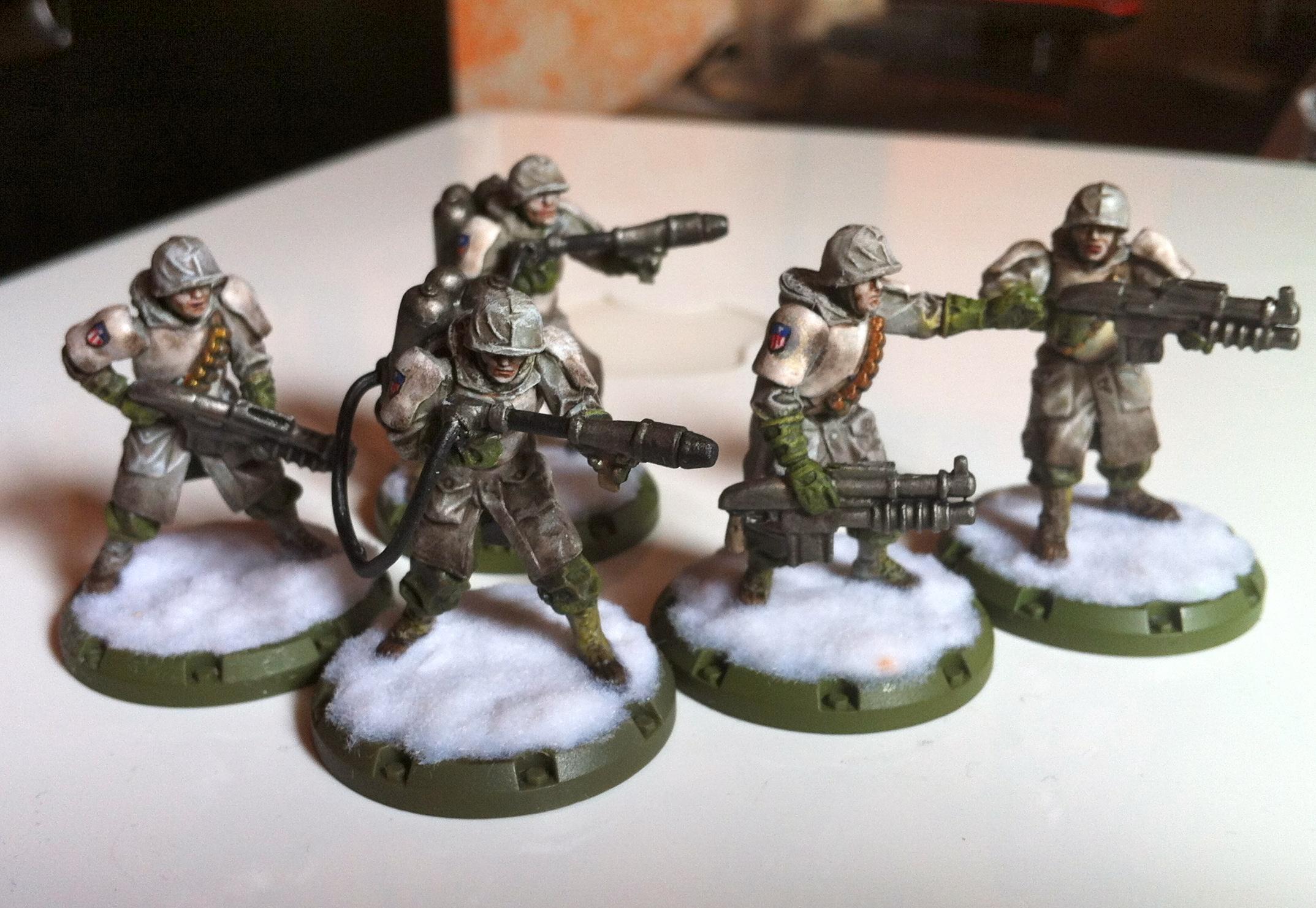 Allies, Dust Tactics, Hell Boys, Hero, Rangers