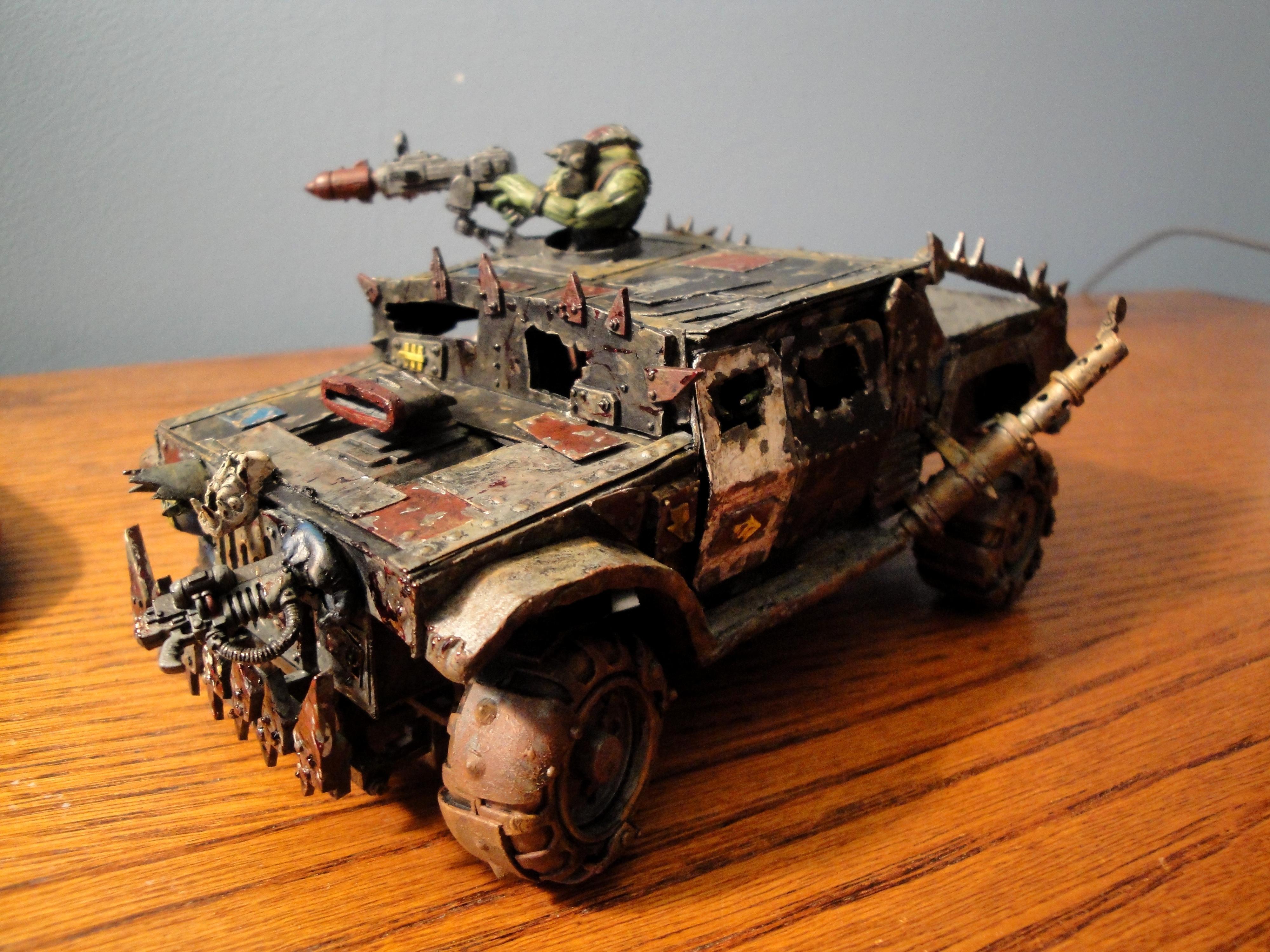 Buggy, Hummer, Jeep, Orks, Scratch Build, Warbuggies