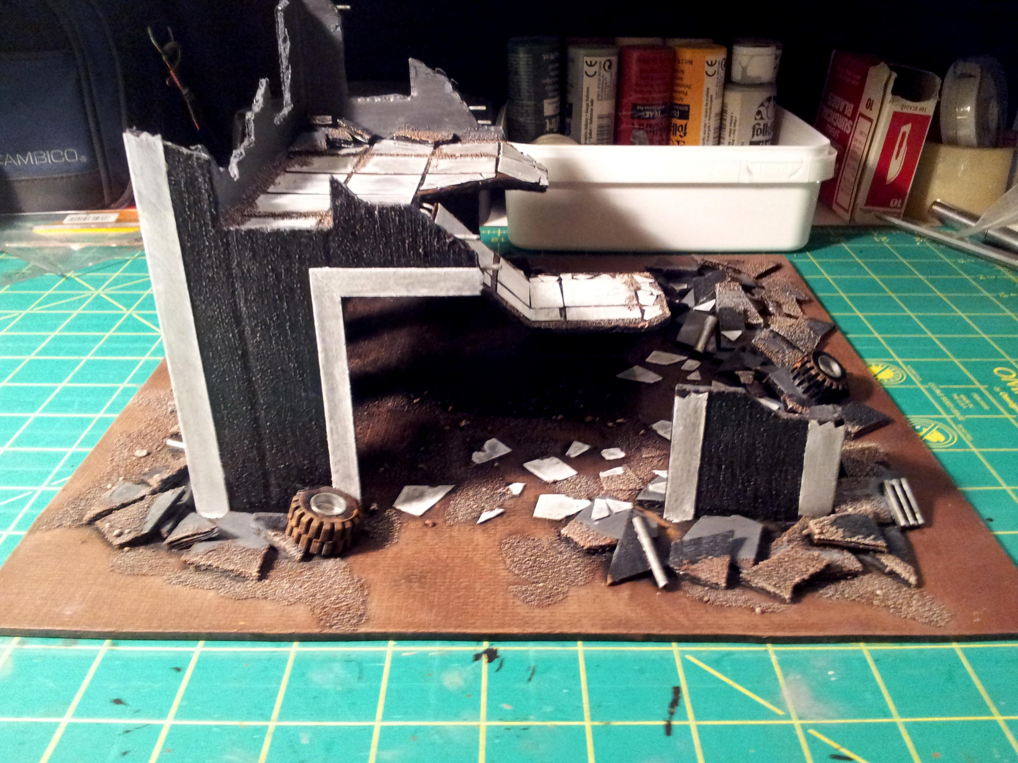 Buildings, Ruined, Terrain, Work In Progress