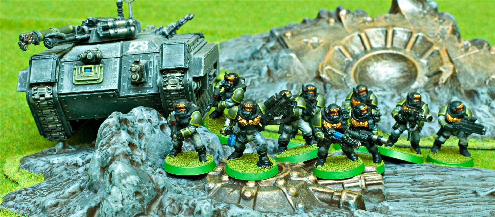 Apocalypse, Army, Carapace, Carapace Armour, Gaming Mat, Green, Grenadier, Grenadiers, Grey, Guard, Imperial, Imperial Guard, Imperials, Veteran, Veteran Squad