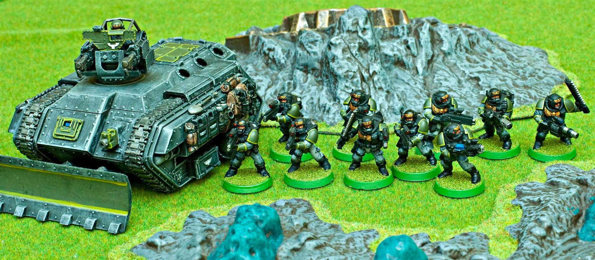 Apocalypse, Army, Carapace, Carapace Armour, Chimera, Chimeras, Dozerblade, Flamer, Grenadier, Grenadiers, Heavy Flamer, Imperial, Imperial Guard, Imperials, Veteran, Veteran Squad