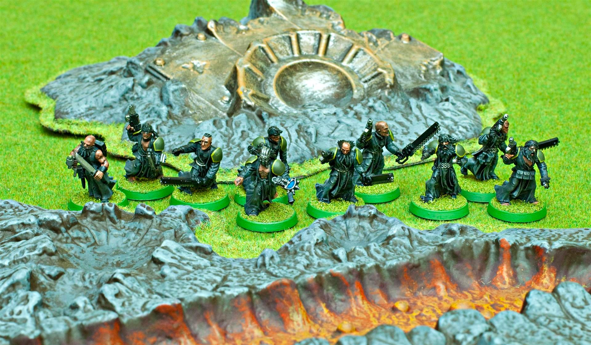 Apocalypse, Army, Beard, Chainsword, Close Combat Weapon, Gaming Mat, Green, Grey, Guard, Imperial, Imperial Guard, Imperials, Pbs, Psyker, Psyker Battle Squad, Psykers, Robes, Wizard