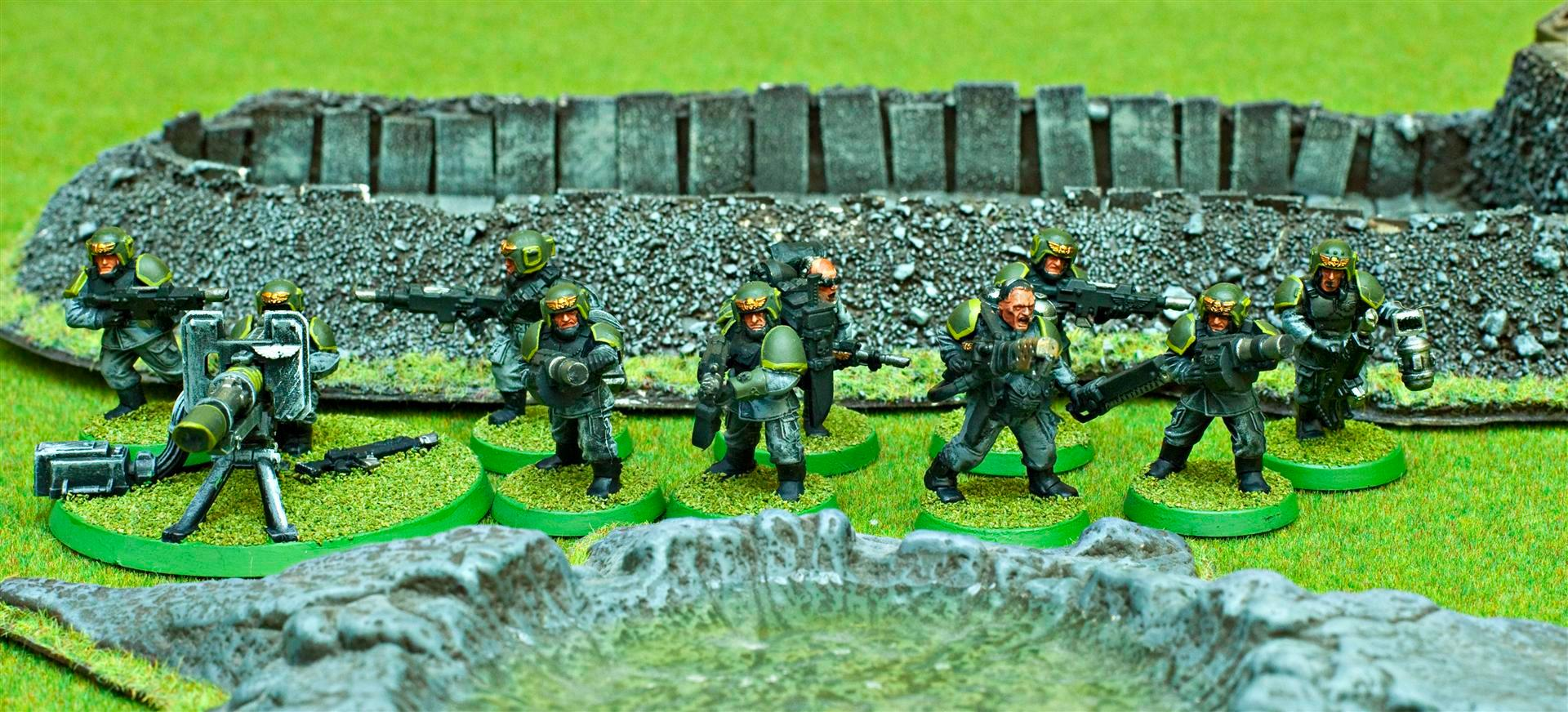 Apocalypse, Army, Astra Militarum, Autocannon, Flamer, Gaming Mat, Green, Grey, Guard, Imperial, Imperial Guard, Imperials, Meltabomb, Plasma, Sgt, Troop Choice, Troops, Vet Squad, Veteran, Veteran Squad