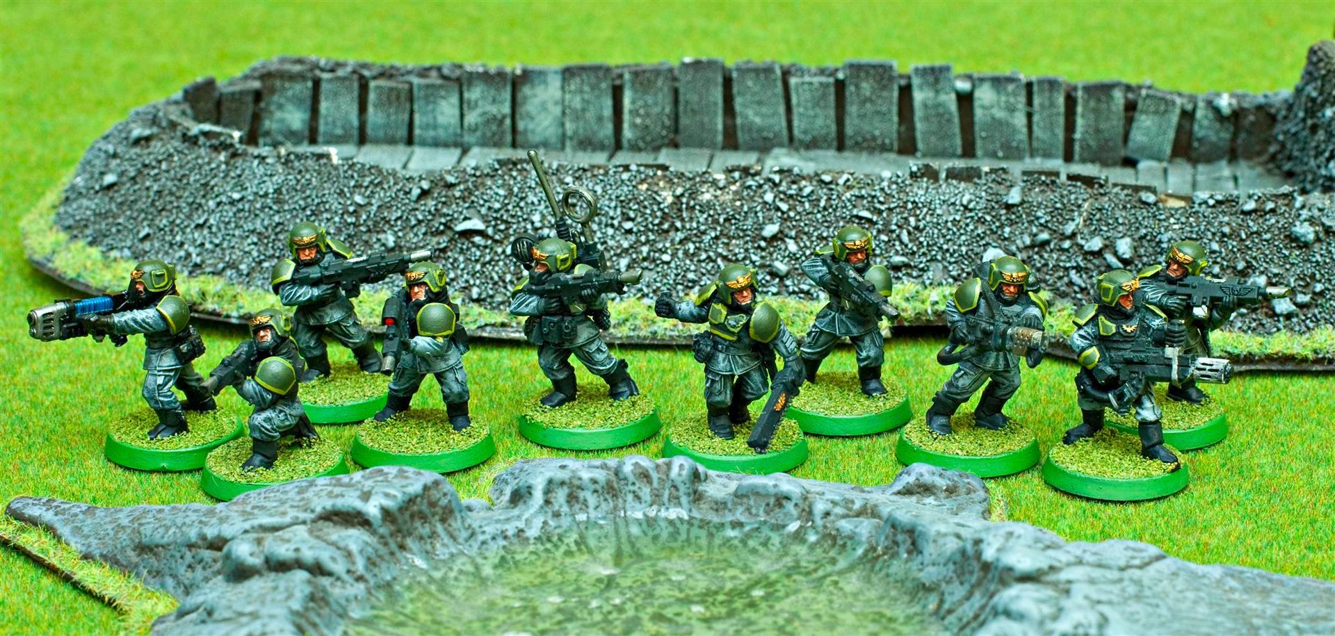 Apocalypse, Army, Astra Militarum, Flamer, Gaming Mat, Green, Grenade Launcher, Grey, Guard, Imperial, Imperial Guard, Imperials, Plasma, Sgt, Troop Choice, Troops, Vet Squad, Veteran, Veteran Squad