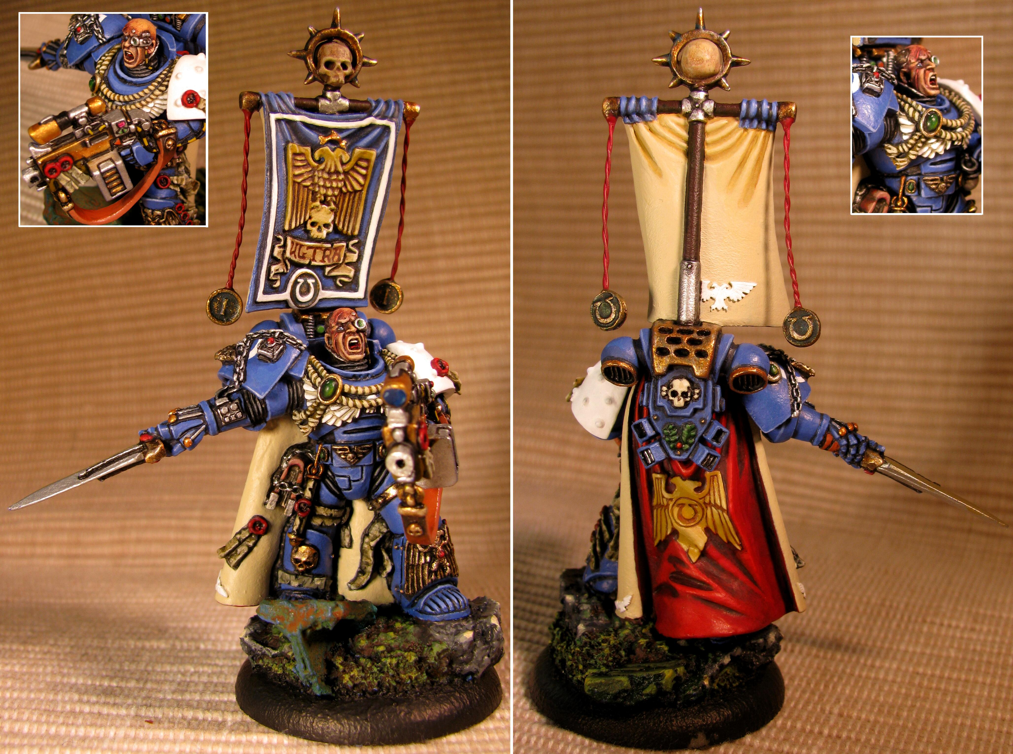 1st Company, Agemman, Aquila, Assault On Black Reach, Banner, Base, Bolter, Captain, Conversion, Custom, Etched Brass, Face, First Company, Forge World, Gem, Master Of Recruits, Power Sword, Recruits, Ruby, Space Marines, Sword, Ultramarines, Warhammer 40,000, Warhammer Fantasy