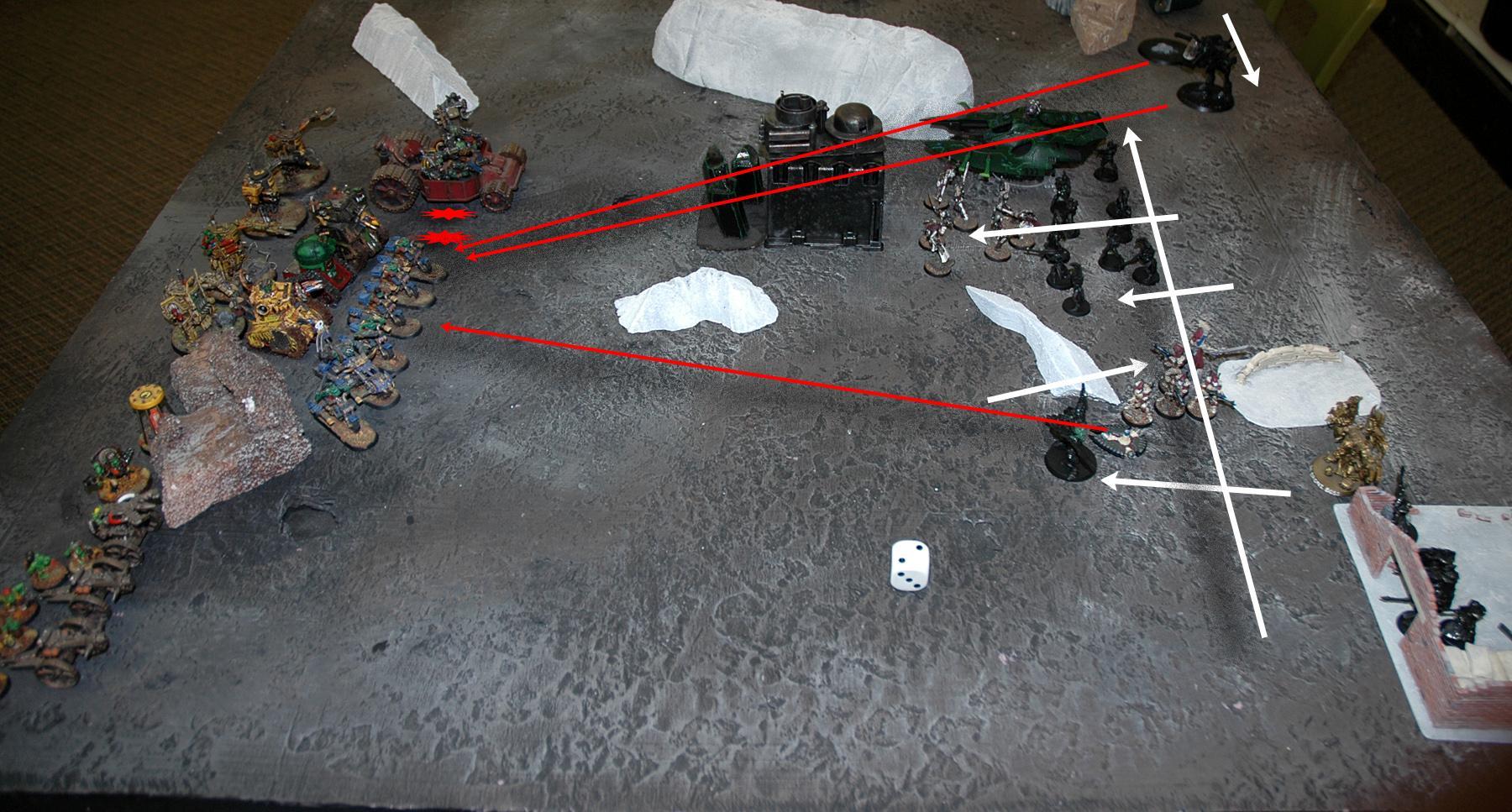 Battle Report, Eldar, Orks, Warhammer 40,000