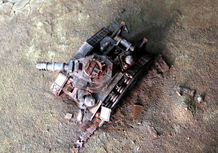 Destroyed, Leman Russ, Terrain, Wreck