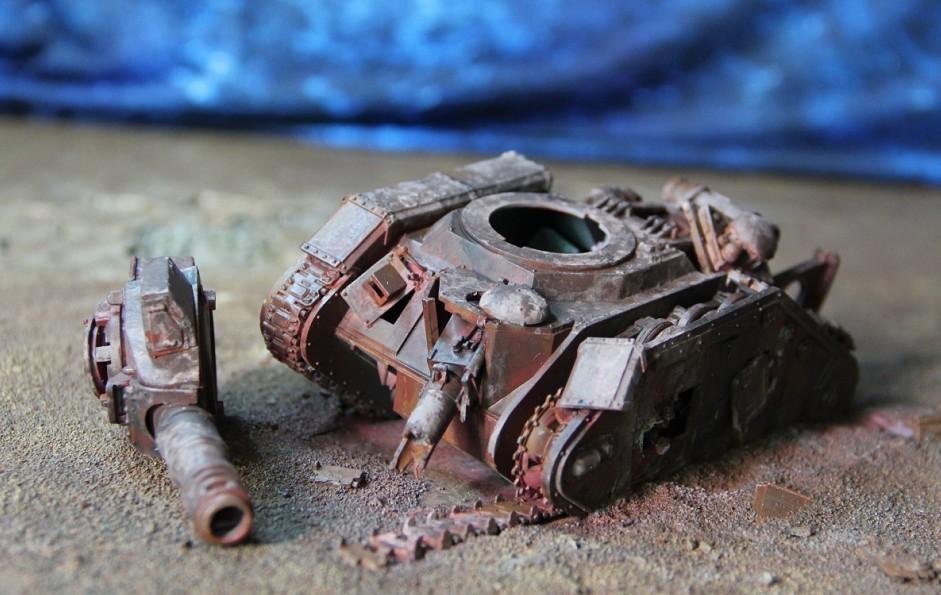 Destroyed, Leman Russ, Terrain, Warhammer 40,000, Wreck