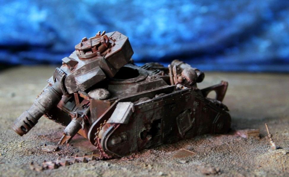 Destroyed, Imperial Guard, Leman Russ, Terrain, Wreck