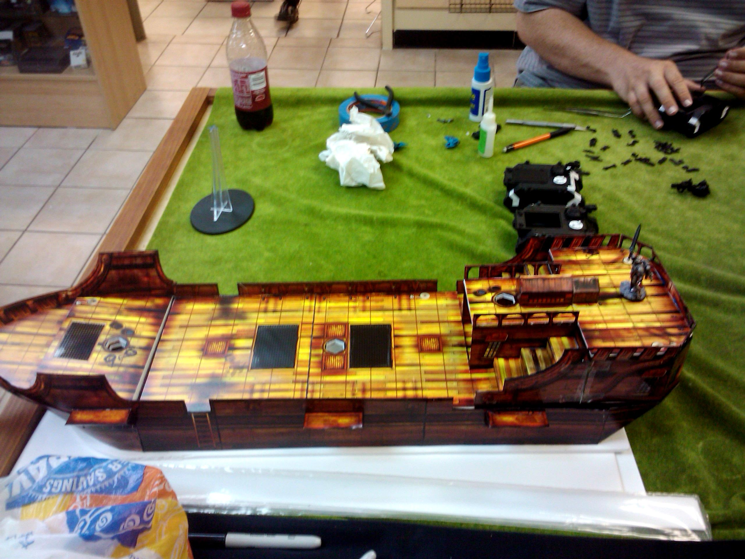 Build, Cardstock, Hobby, Maiden, Painting, Paper, Project, Ship, Terrain, World Works Games, Worldworks, Worldworks Games