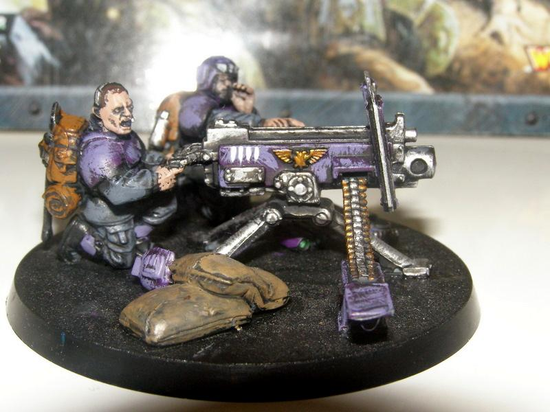 Cadians  Guardsmen  Heavy Bolter  Heavy Weapon Team
