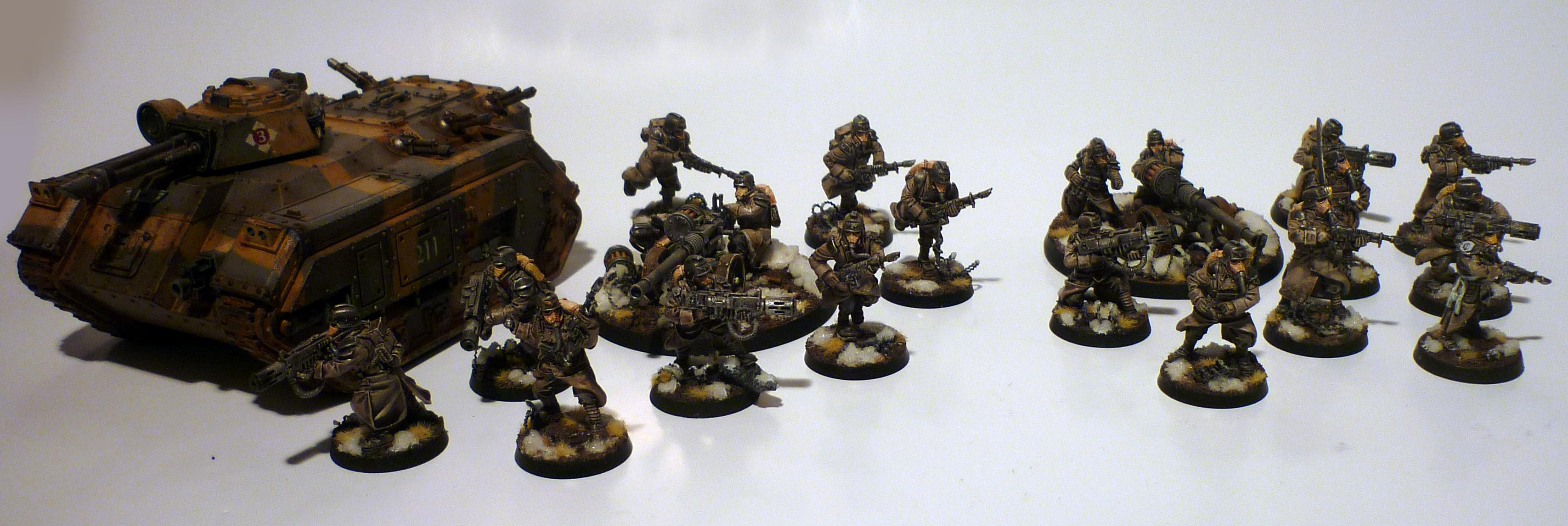Krieg Guardsmen and Chimera