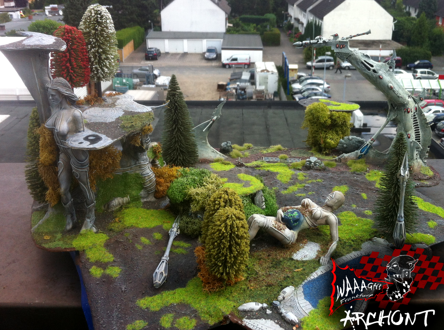 Beautiful, Display, Eldar, Overgrown, Ruins, Terrain
