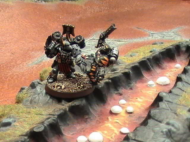 Assault, Conversion, Diorama, Sergeant, Space Marines, Space Sharks
