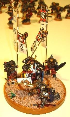 Banner, Commander, Conversion, Diorama, Japanese, Ronin, Samurai, Space Marines
