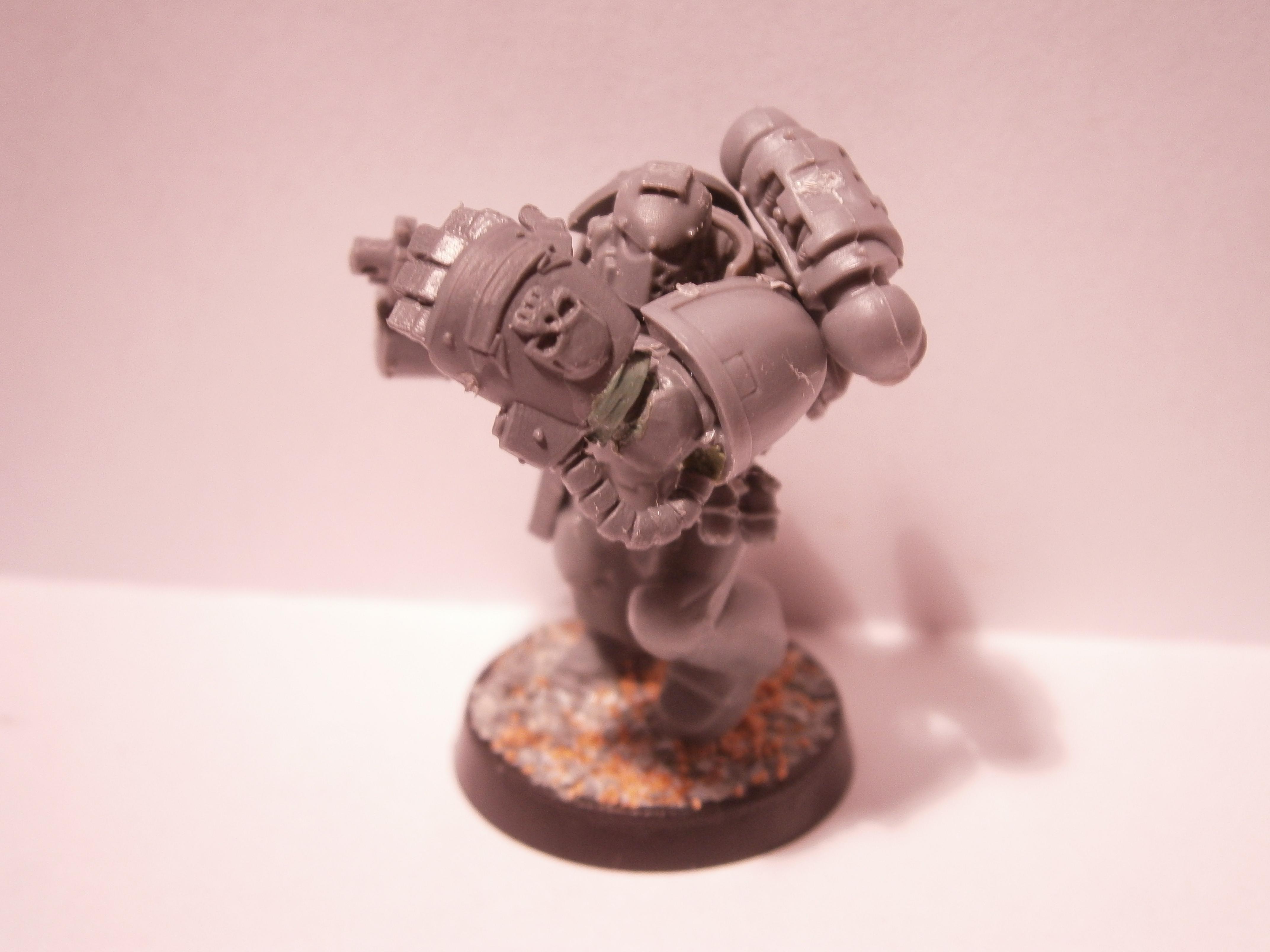 Backhand, Deathwatch, Power Fist, Space Marines, Warhammer 40,000, Work In Progress
