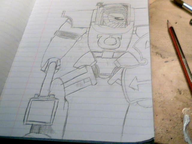 ultramarine honor guard  in terminator armour