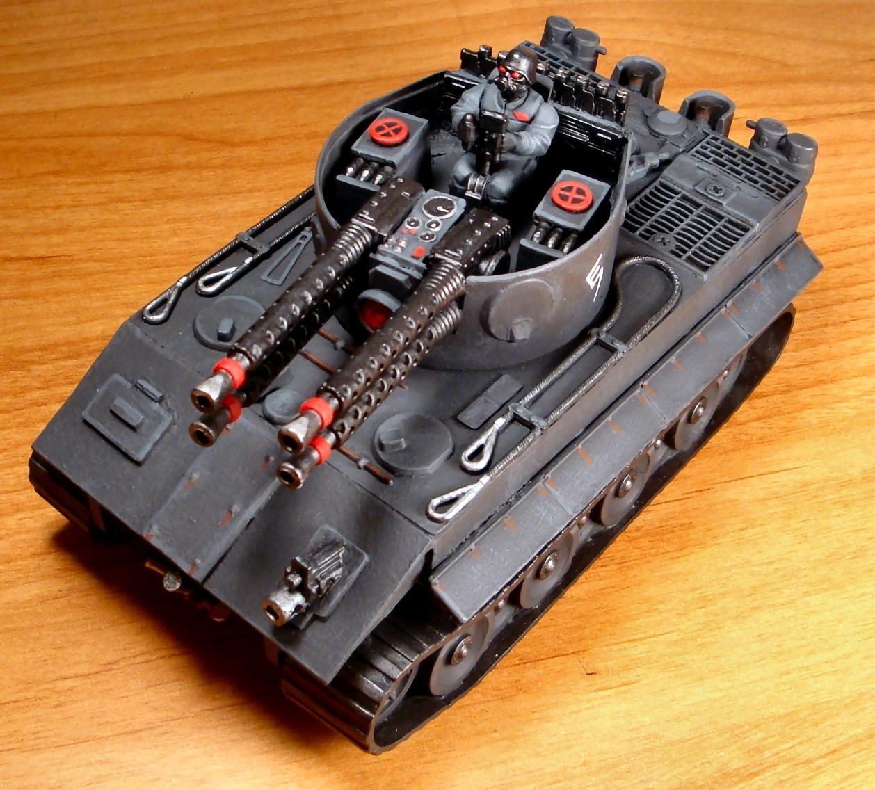 Do-it-yourself, Flak Tank, Hydra, Imperial Guard, Tiger I, Warhammer 40,000