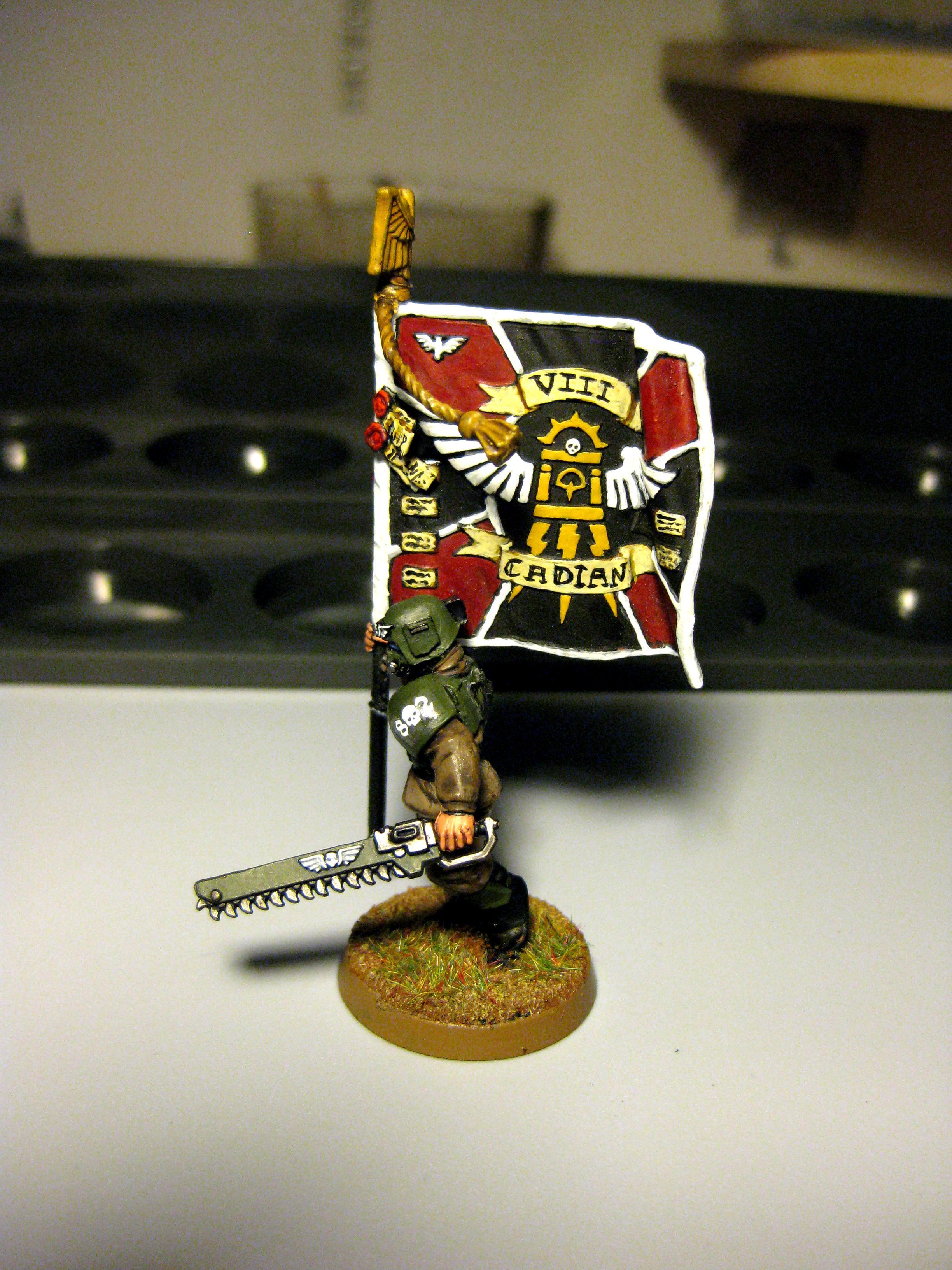 Bearer, Cadians, Imperial Guard, Infantry, Standard