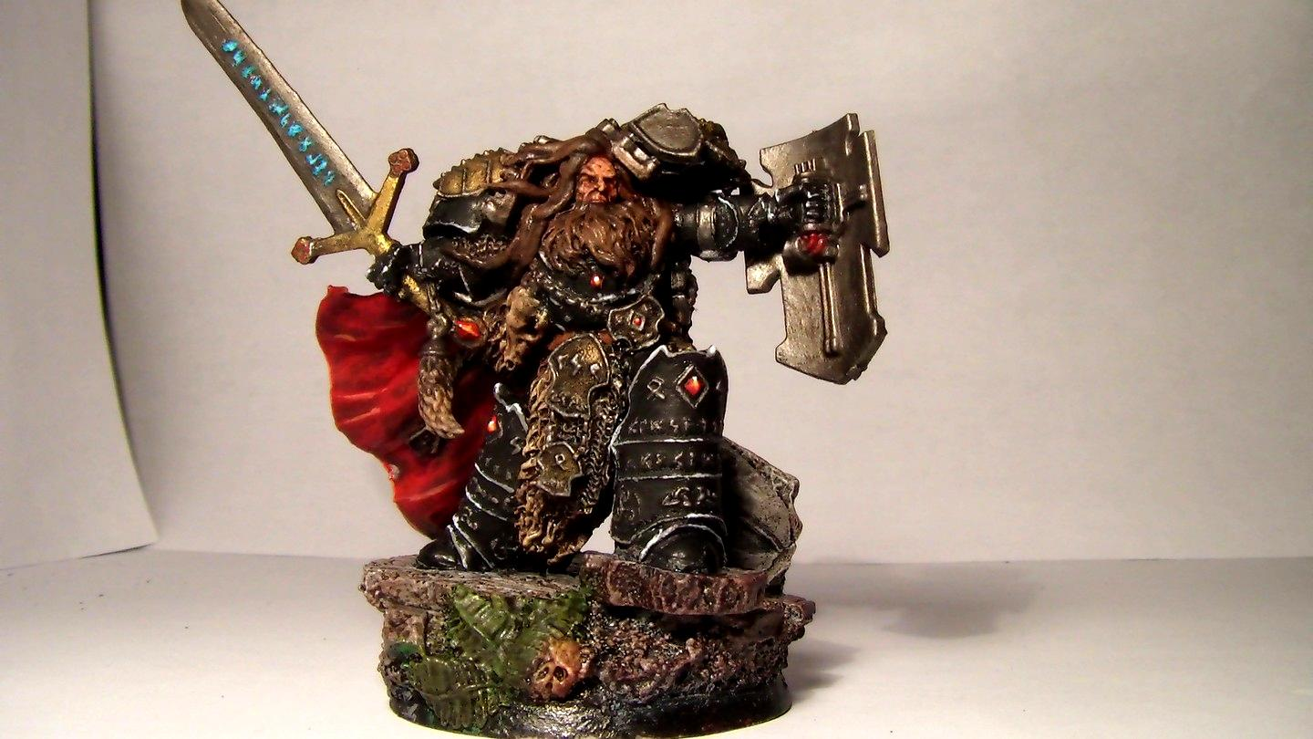 Painted, Power Sword, Space Wolves, Storm Shield, Sword, Terminator Armor