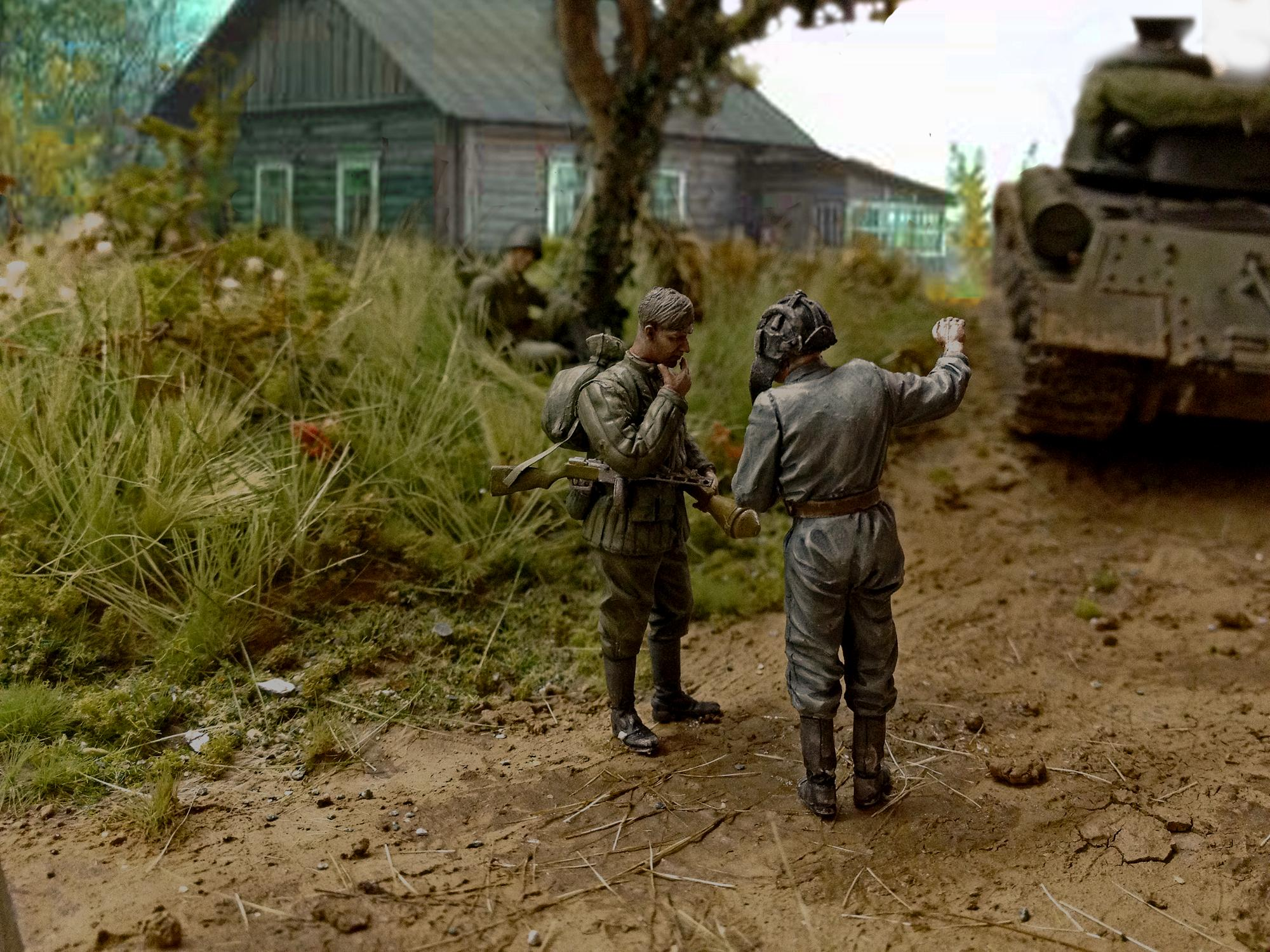 Diorama, Historical, Infanty, Russians, World War 2