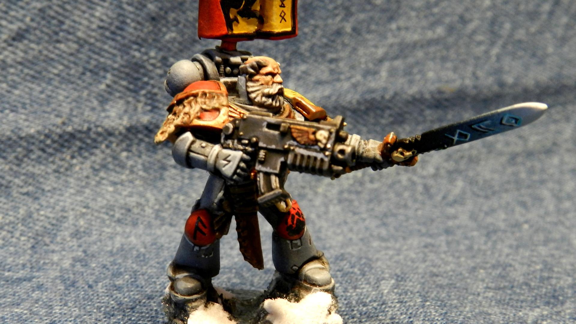 Grey Hunter, Motw, Snow, Space Wolves, Warhammer 40,000, Wolf Guard, Wulfen