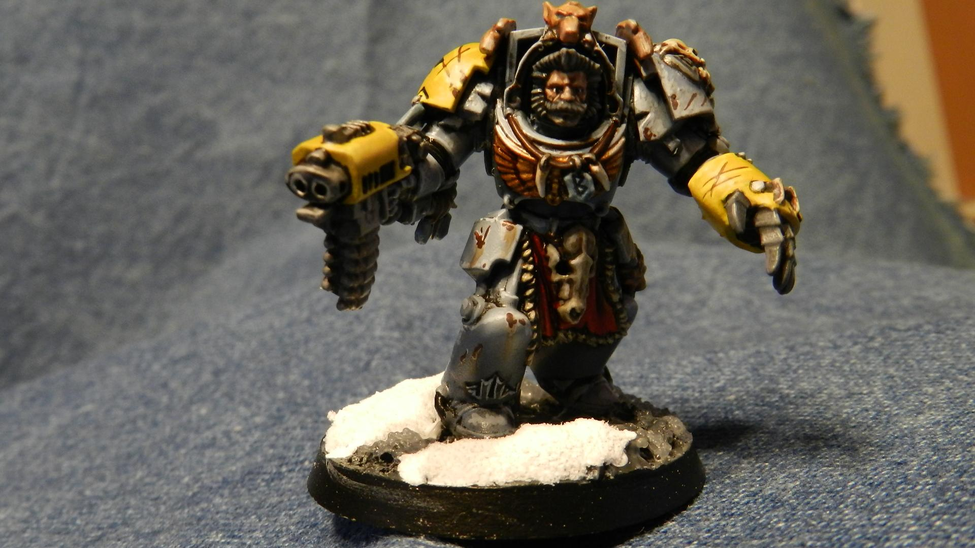 Snow, Space Wolves, Terminator Armor, Warhammer 40,000, Wolf Guard