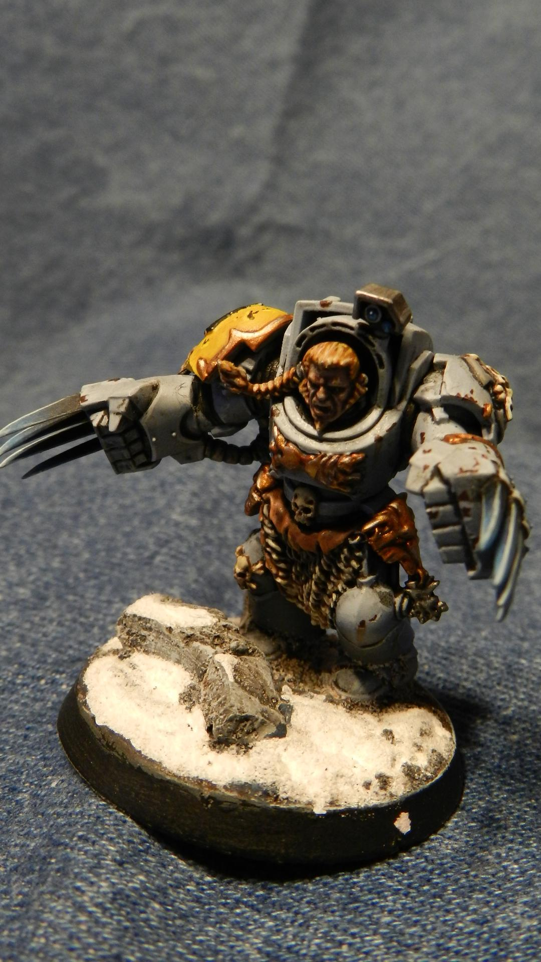 Snow, Space Wolves, Terminator Armor, Warhammer 40,000, Wolf Claws, Wolf Guard