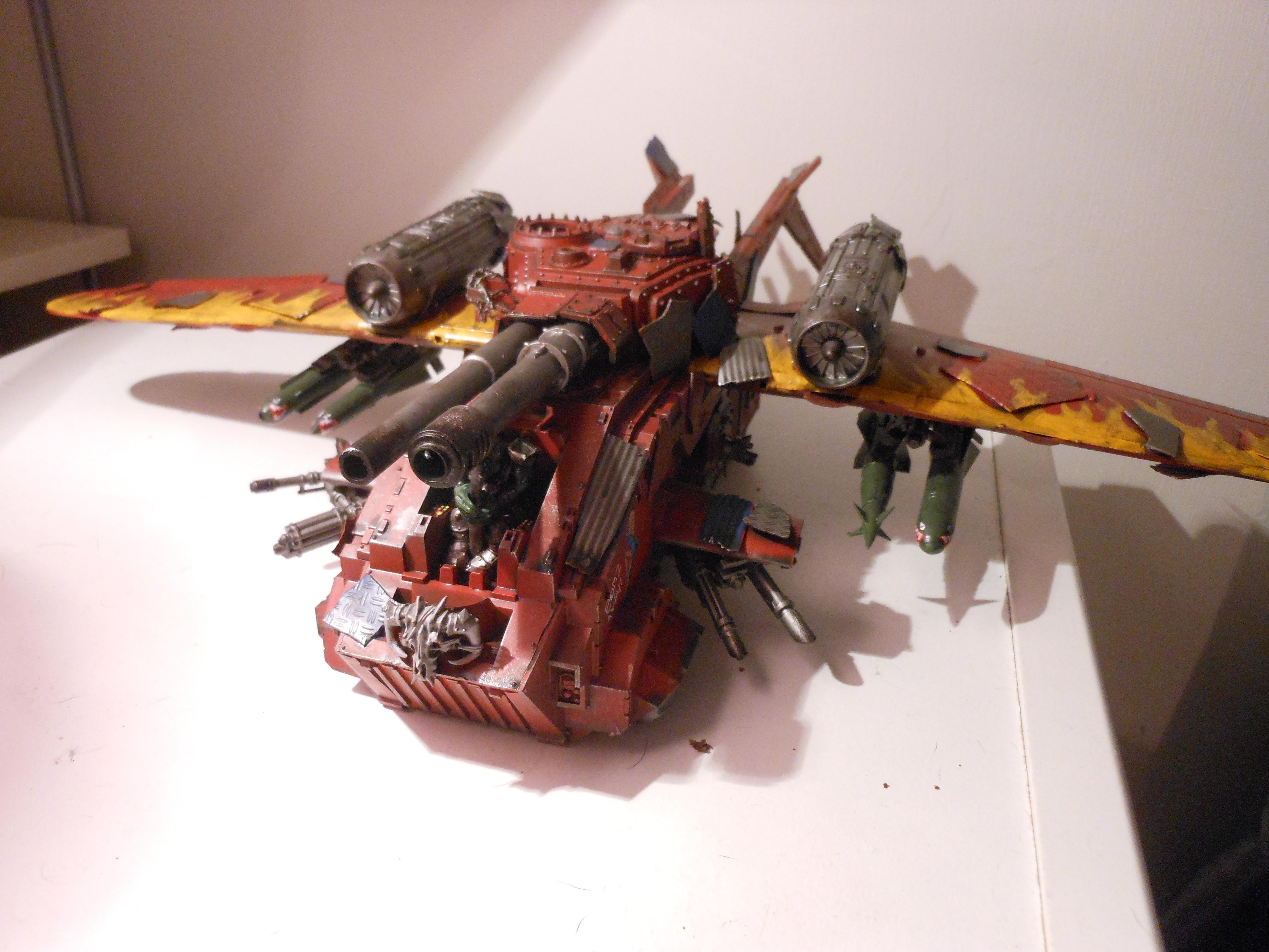 Flyer, Looted, Marine Abuse, Orks, Storm Raven