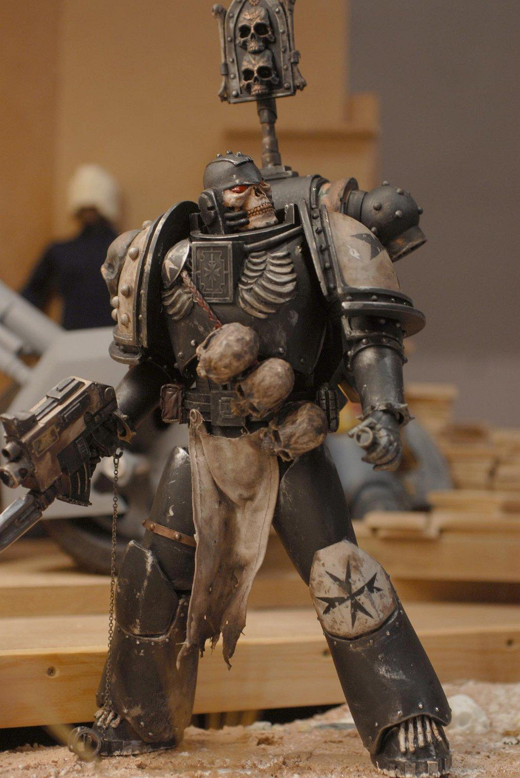 -6 Inch, 1-6 Scale, Black Templars, Chaplain, Space Marines, Warhammer 40,000