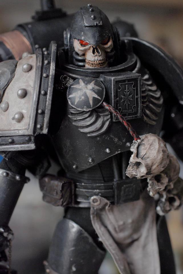 -6 Inch, 1-6 Scale, Black Templars, Chaplain, Space Marines, Warhammer 40,000