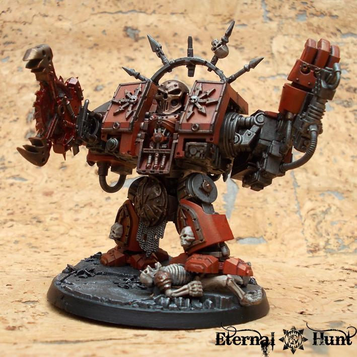 Buzzsaw, Chaos, Chaos Space Marines, Circular Saw, Conversion, Dreadnought, Khorne, Warhammer 40,000, World Eaters