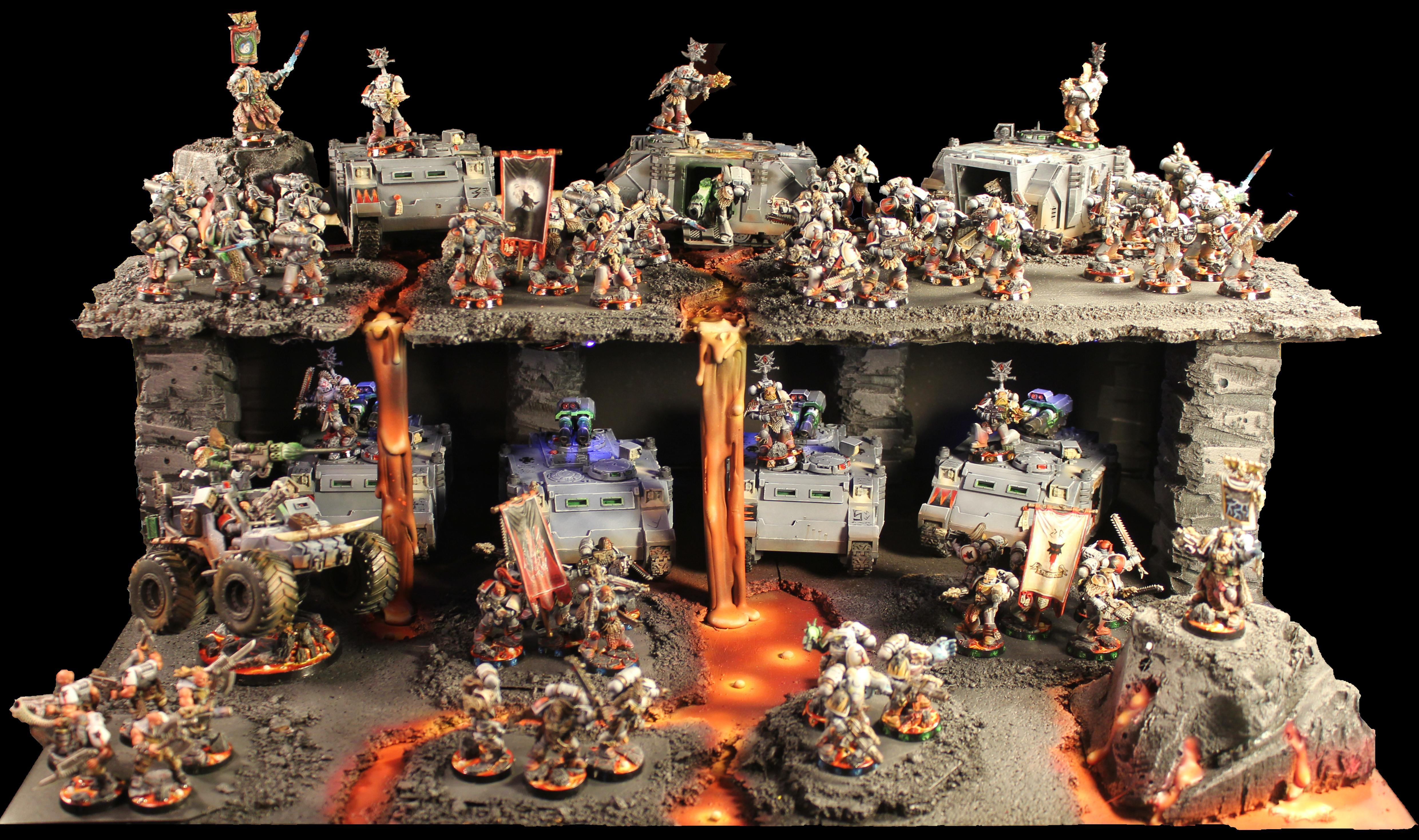 Army, Display, Lava, Space Wolves