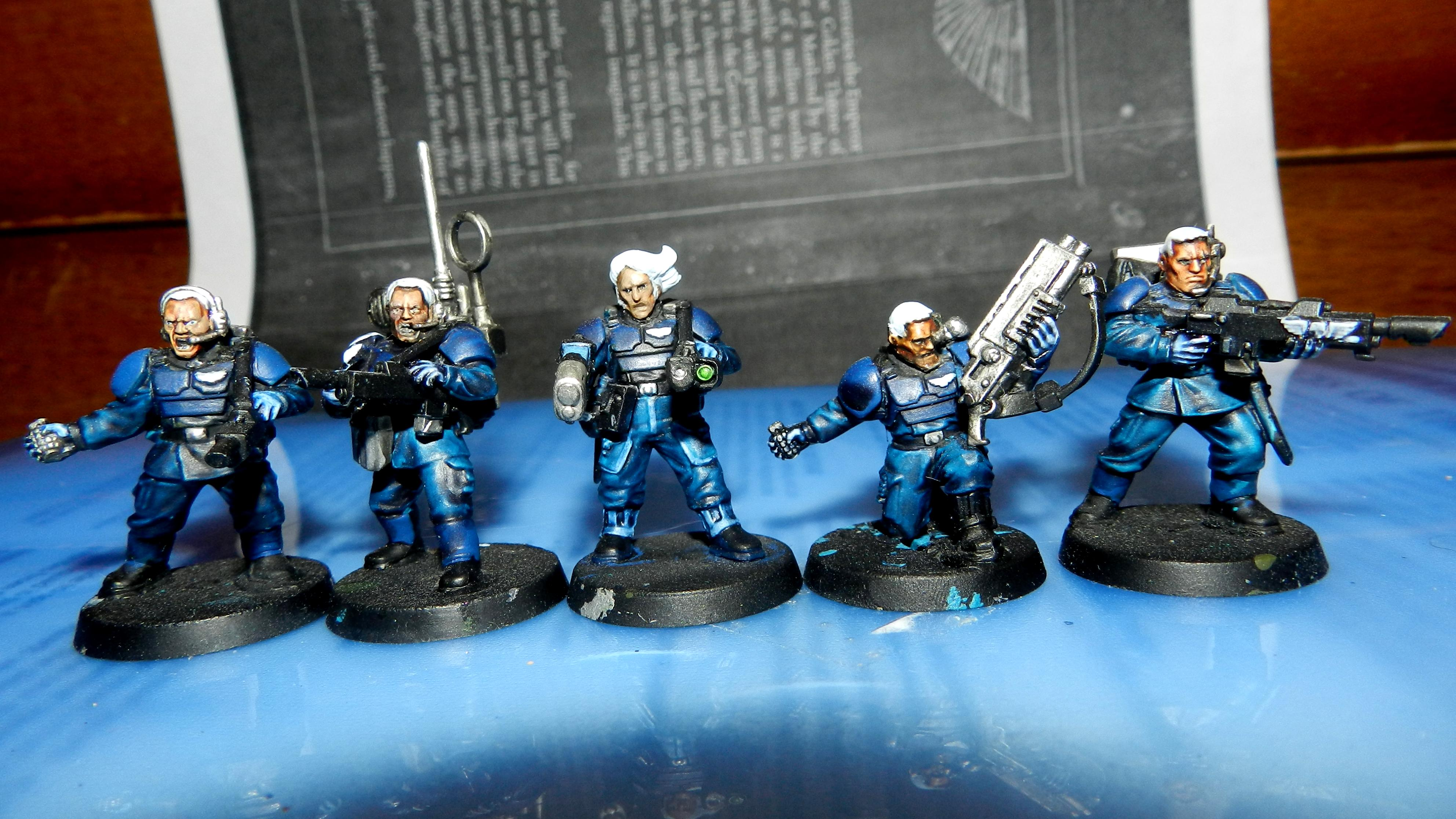 Adeptus Arbites, Cadians, Conversion, Guardsmen, Imperial Guard, Plasma Gun, Shotgun, Urban, Veteran, Warhammer 40,000, Work In Progress