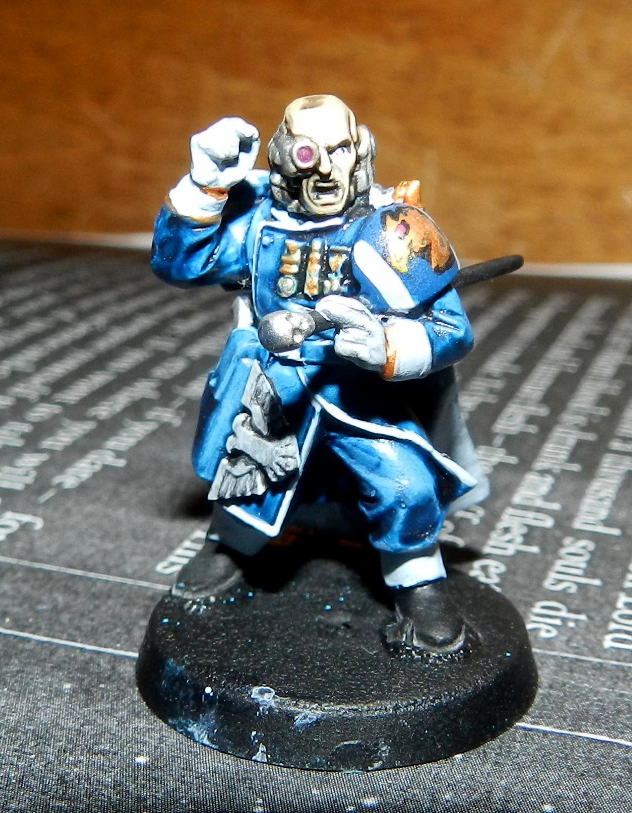Adeptus Arbites, Advisor, Cadians, Ccs, Command Squad, Conversion, Gears Of War, Imperial Guard, Officer Of The Fleet, Warhammer 40,000, Work In Progress