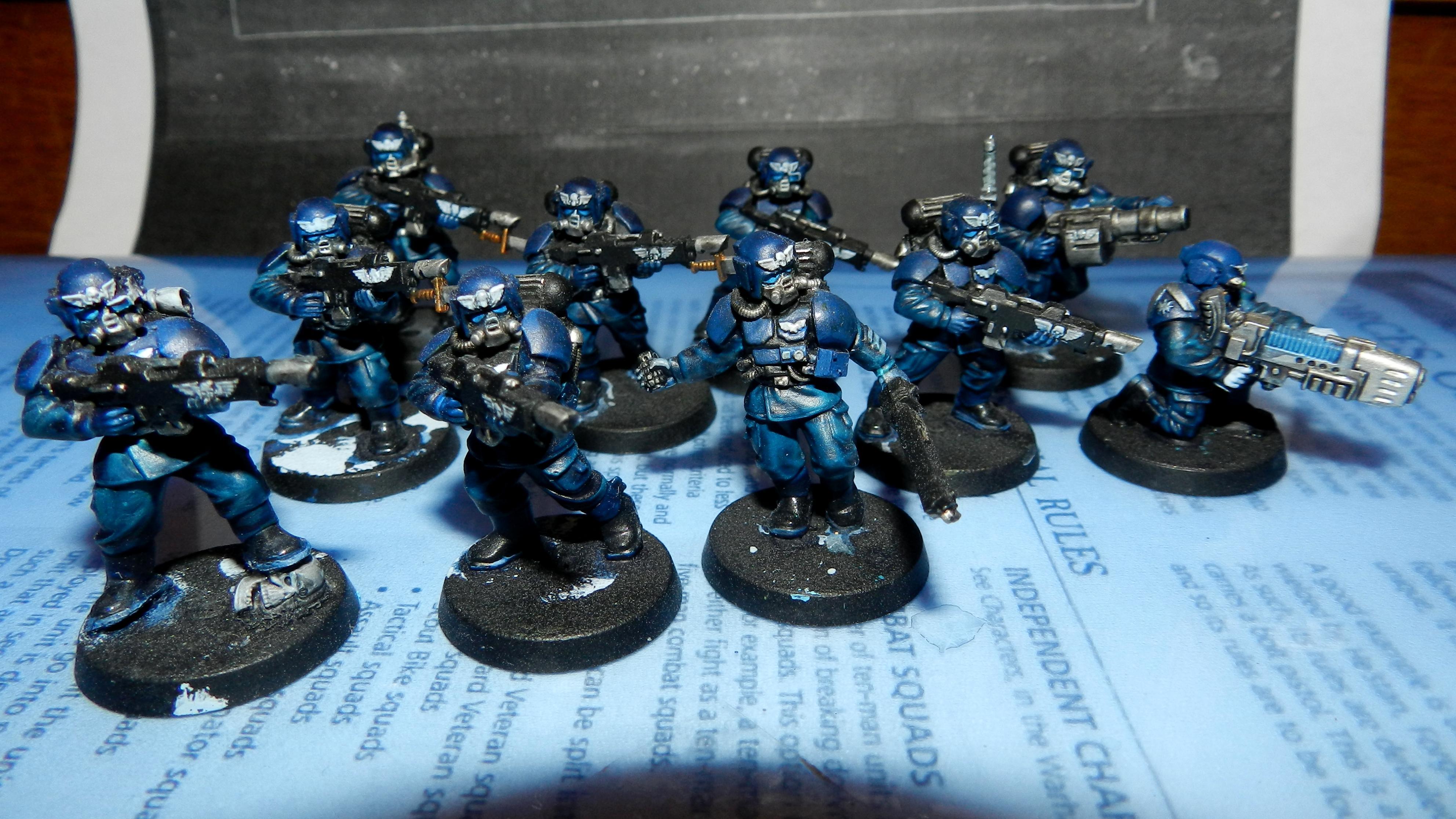 Adeptus Arbites, Cadians, Conversion, Gears Of War, Grenadier, Grenadiers, Guardsmen, Imperial Guard, Plasma Gun, Warhammer 40,000, Work In Progress