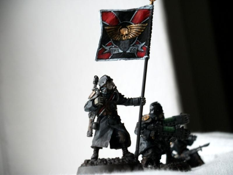Banner, Bearer, Command, Death, Death Korps of Krieg, Guard, Imperial, Korps, Mud, Muddy, Of, Platoon, Squad, Standard