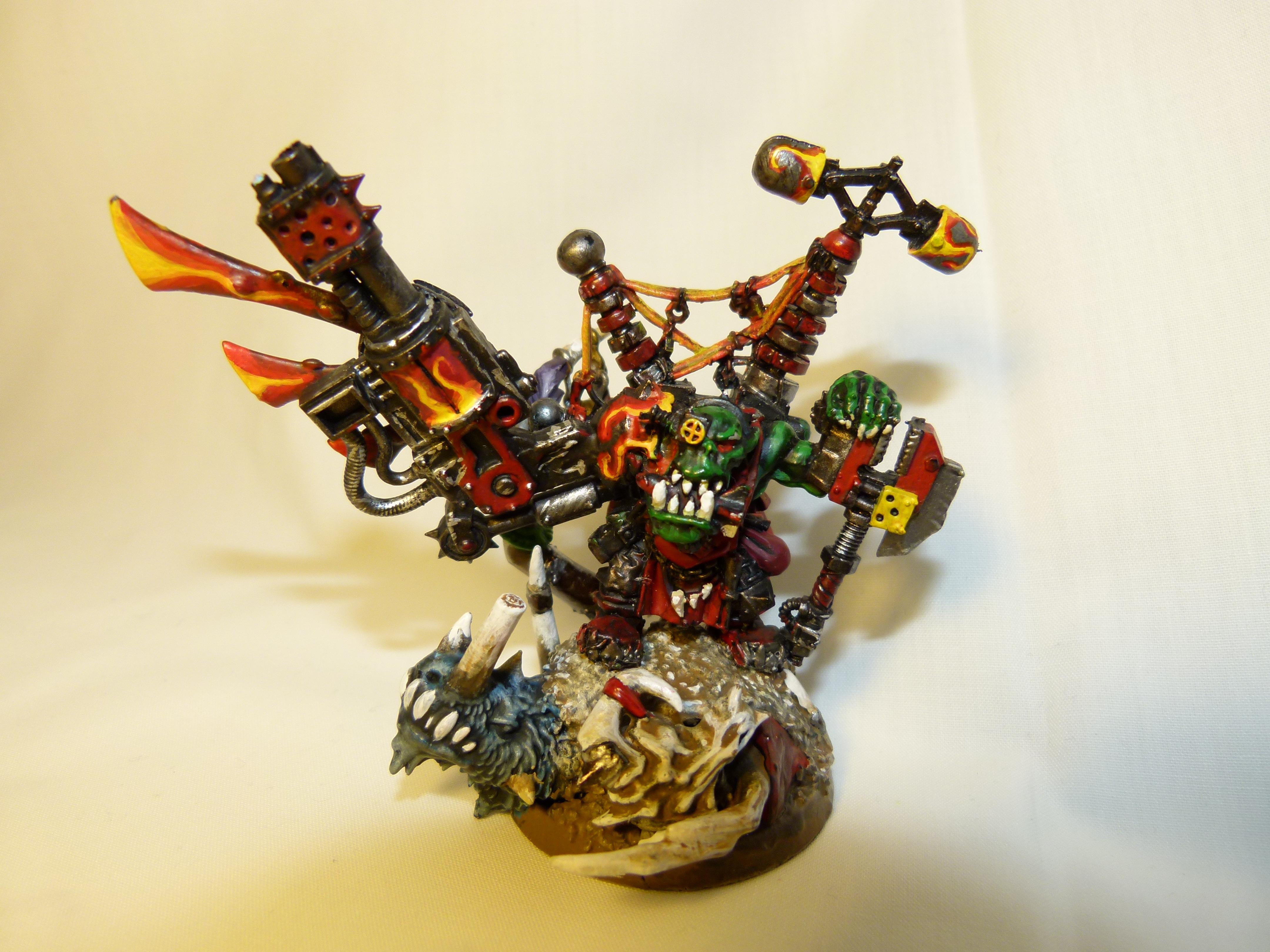 Big Mek, Burna Boyz, Conversion, Evil Sunz, Kustom Force Field, Mekboy, Ork Mek, Orks, Warhammer 40,000