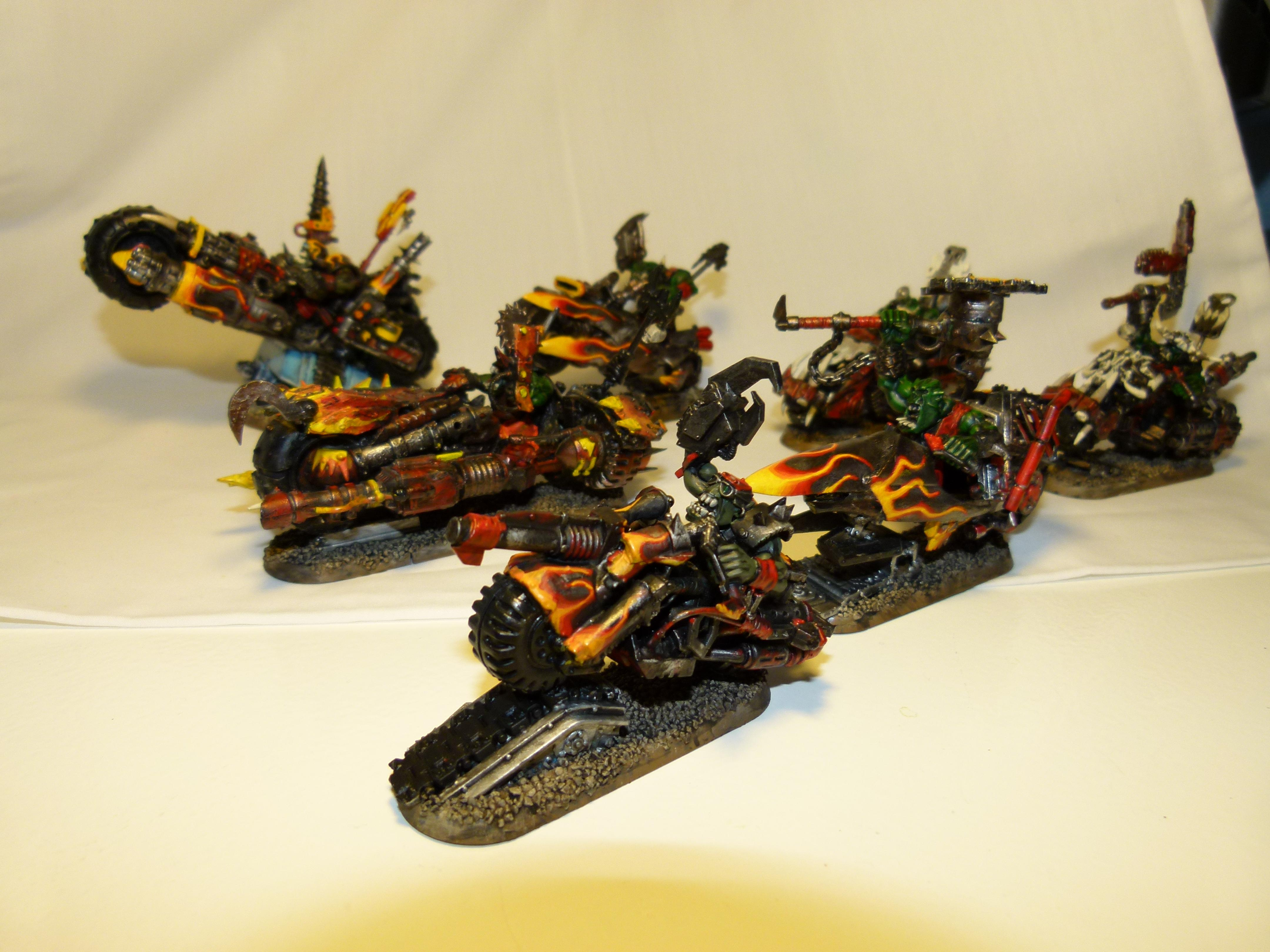 Bike, Biker Boss, Conversion, Elites, Mob, Nob, Orks, Painboys, Warboss, Warhammer 40,000, Wazdakka Gutsmek