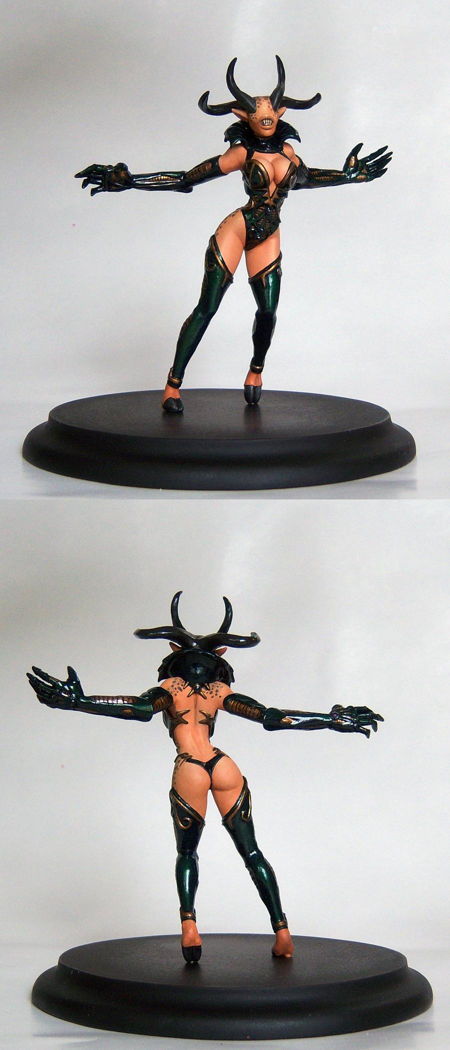 Chaos, Daemons, Keeper Of Secrets, Sculpting, Slaanesh, Slaanesh Chaos Keeper Of Secrets Daemon