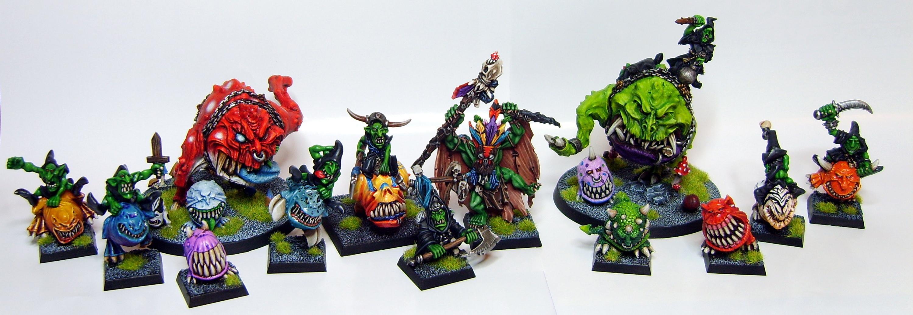 Airbrush, Cave, Gobbo, Goblins, Mangler, Orcs, Orks, Rainbow, Shaman, Squigs, Warhammer Fantasy, Wurrzag