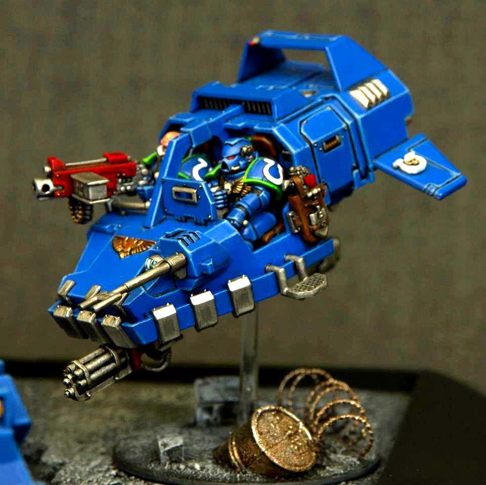 Land Speeder, Space Marines, Tank, Ultramarines, Warhammer 40,000
