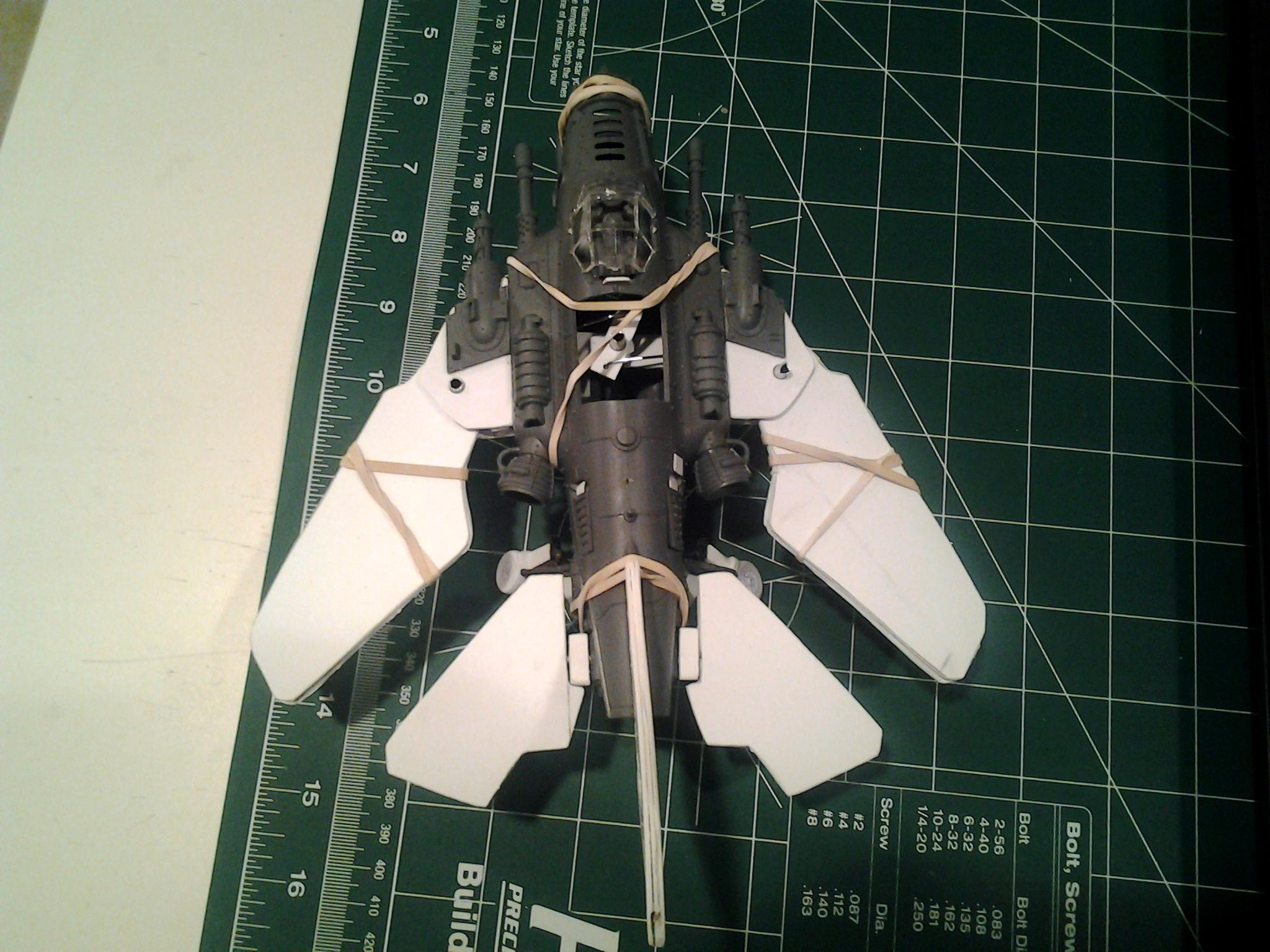 Canopy Opens, Dakka Jet, Kit Bashing, Modified Ork Bommer, Scratch Build, Swing Wing, Work In Progress