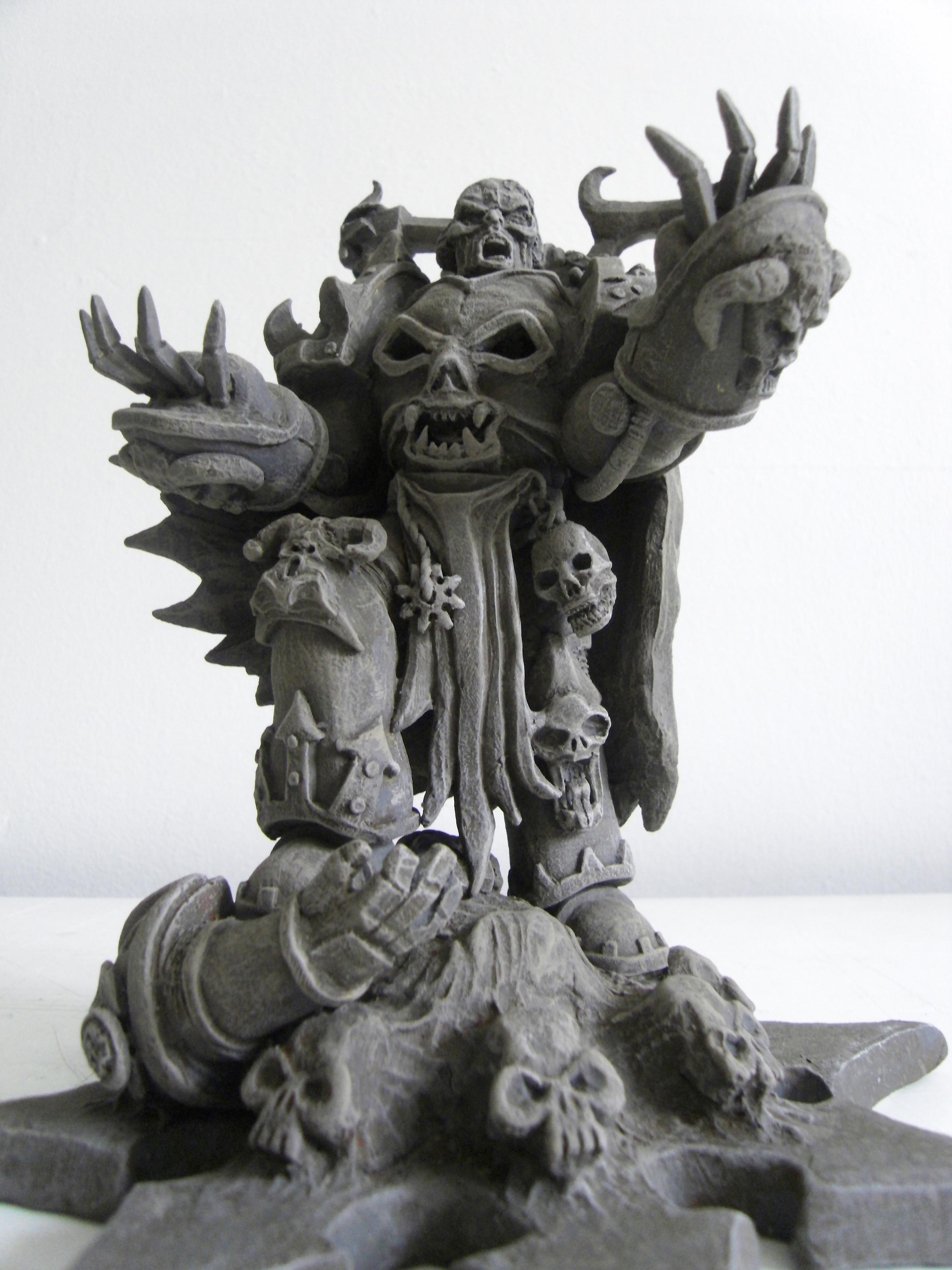 Chaos, Chaos Lord, Chaos Space Marines, Commission Work, Custom, Large, Large Scale, Monument, Scratch Build, Sculpting, Sculpture, Space Marines, Statue, Terrain, Warhammer 40,000, Warhammer Fantasy