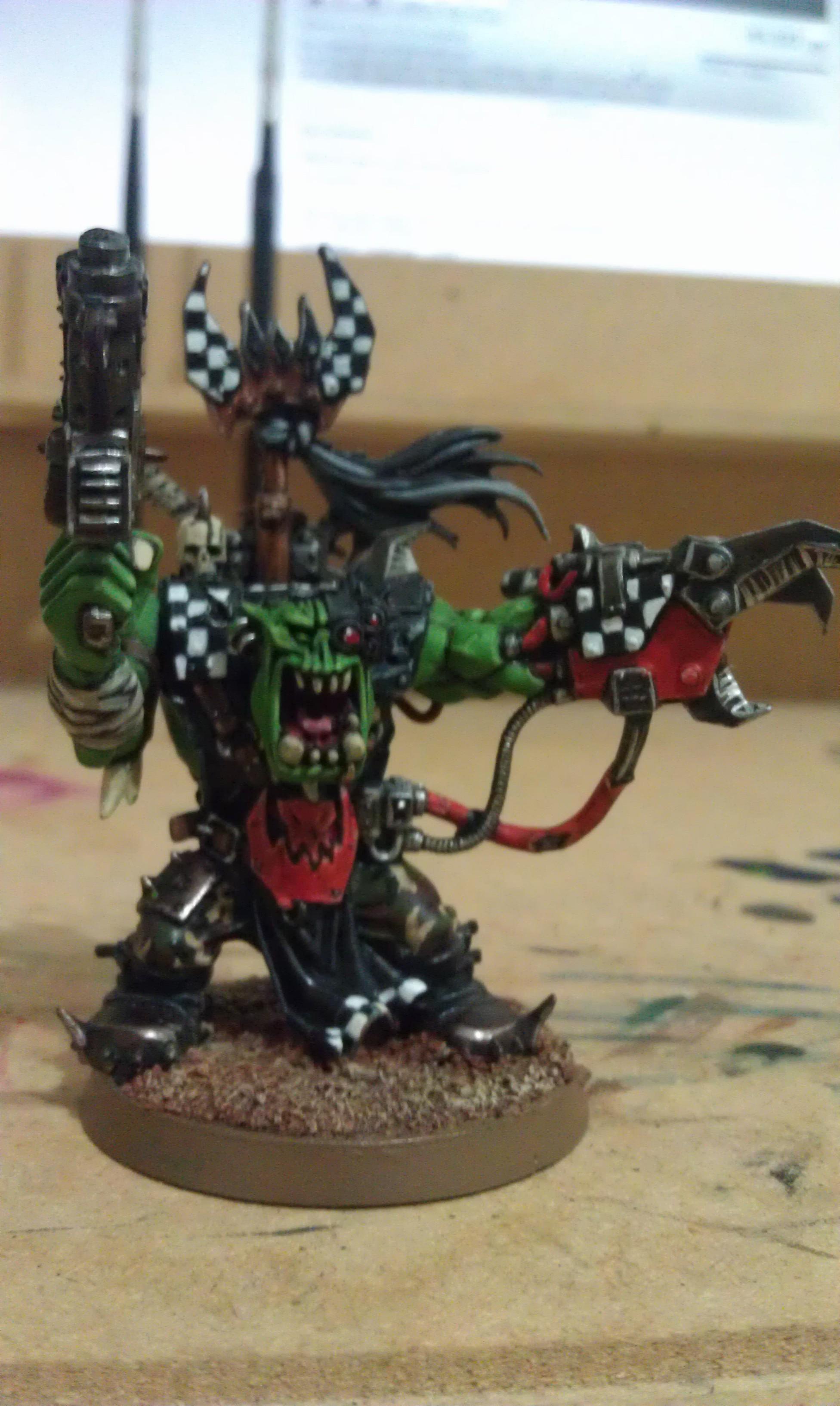 Blood Axe, Evil Sunz, Orks, Warboss, Warhammer 40,000