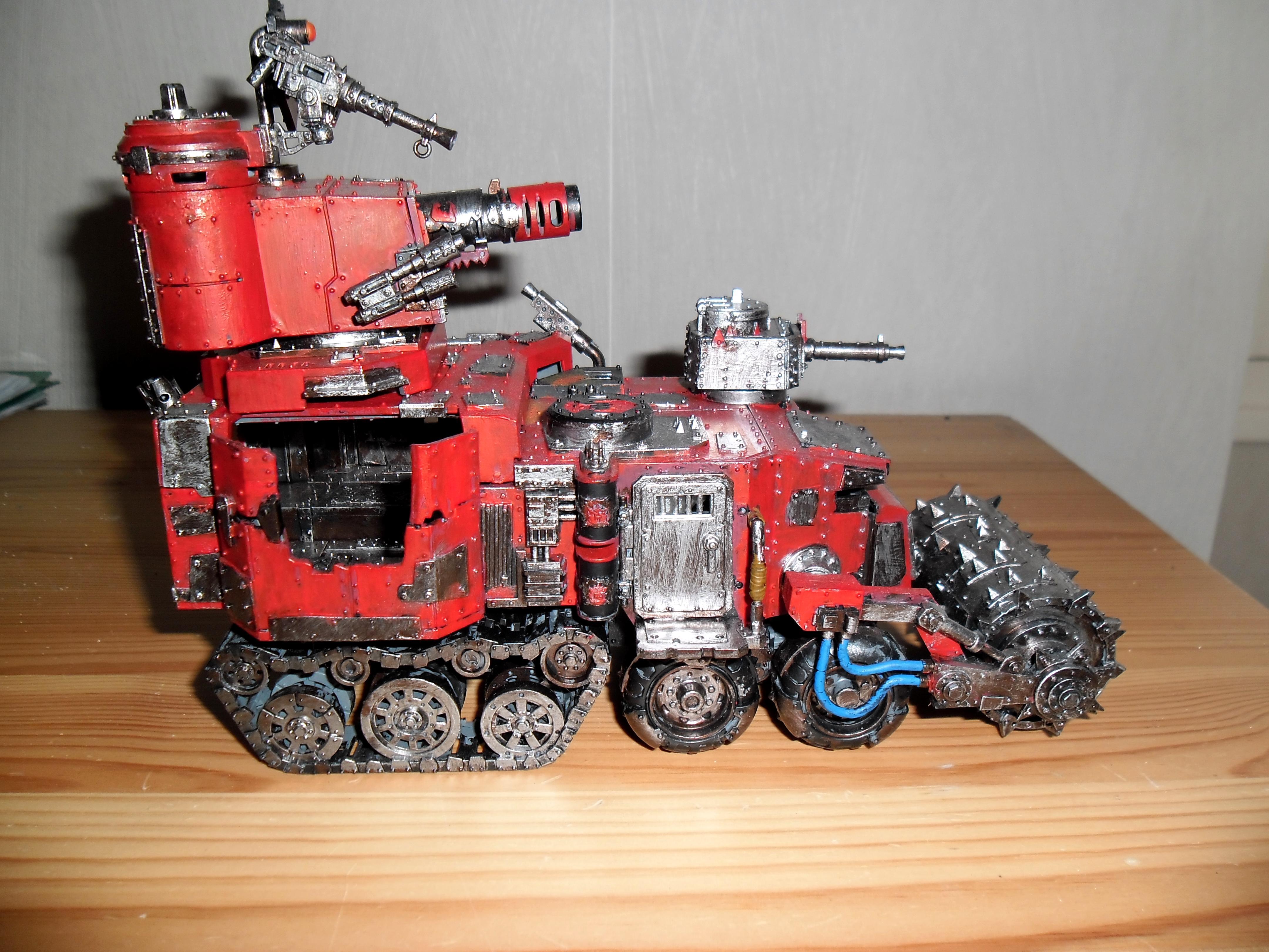 Battlewagon, Killcannon, Orks, Red