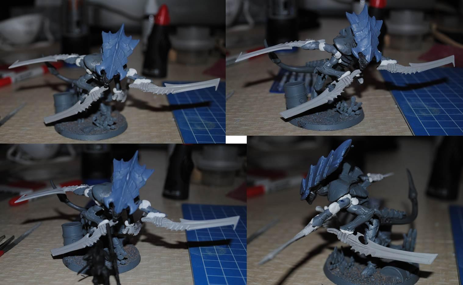 Bone Sabres, Swarm Lord, Tyranids, Work In Progress