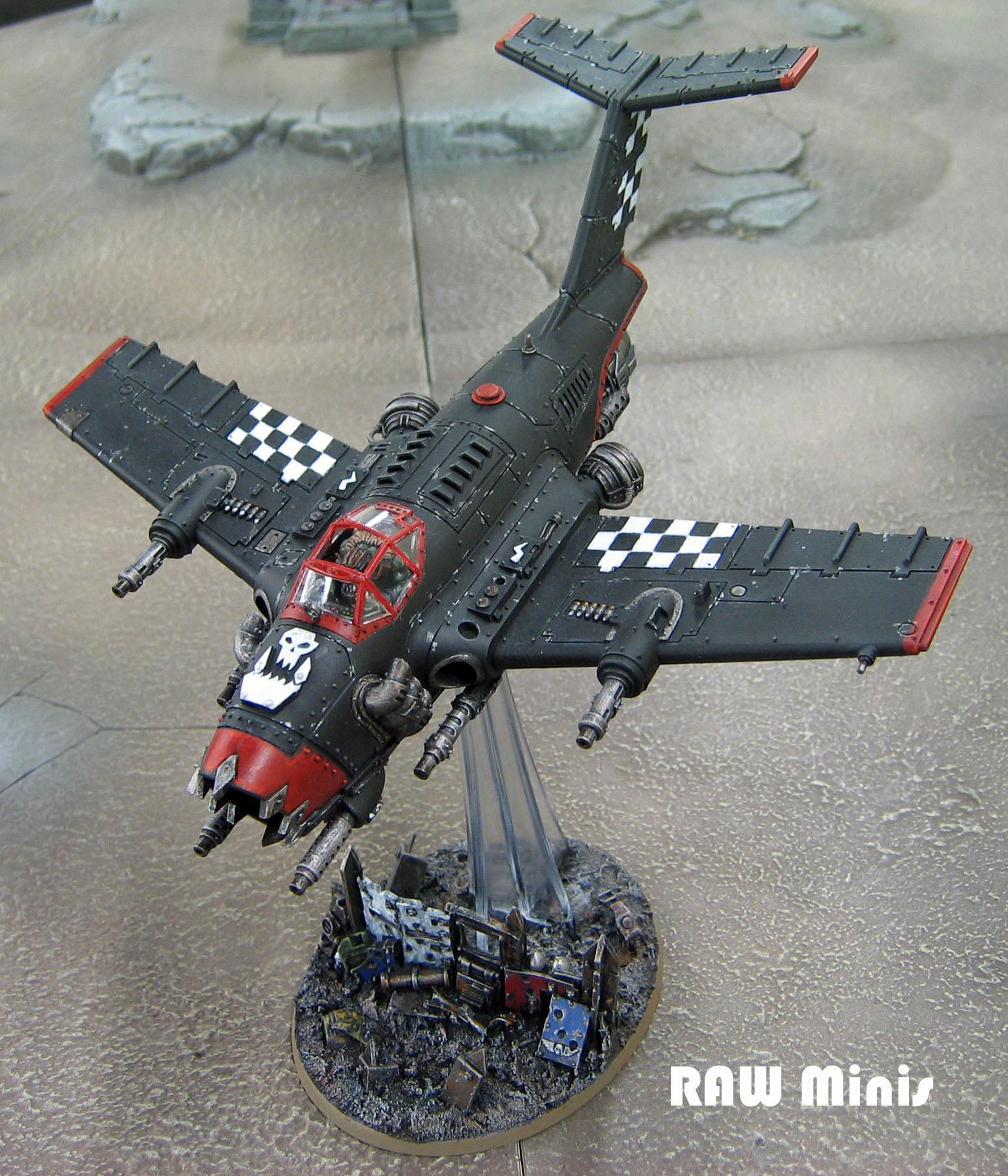 Bommer, Conversion, Dakkajet, Flyer, Orks, Painting, Vehicle, Warhammer 40,000