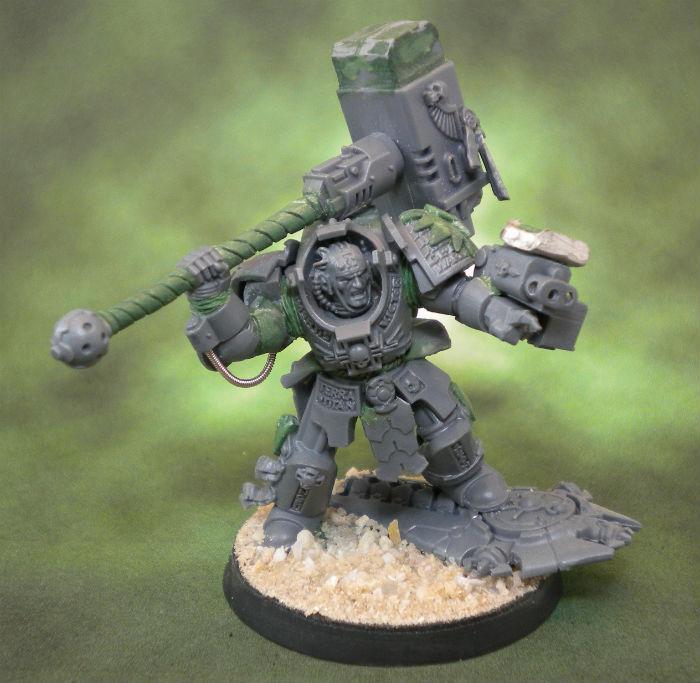 Chapter Master, Conversion, Kitbash, Space Marines, Terminator Armor