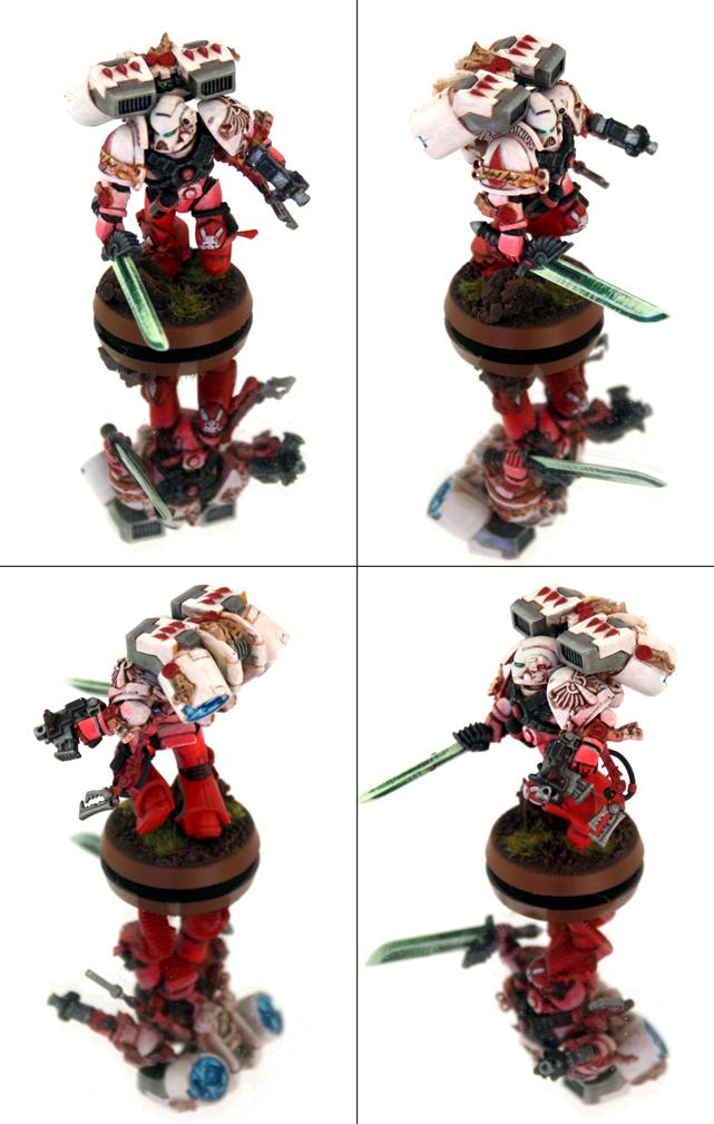 Blood Angels, Power Sword, Space Marines, White Armour